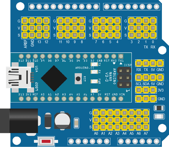 Arduino Nano Expansion Shield 3-1-1