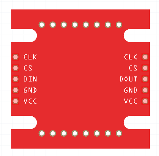 MAX7219 Led Matrix Red Module