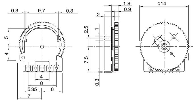 Thumbwheel-Potentiometer-2D-Model
