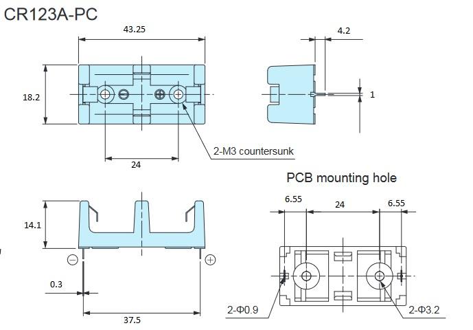 cr123-16340-battery-holder