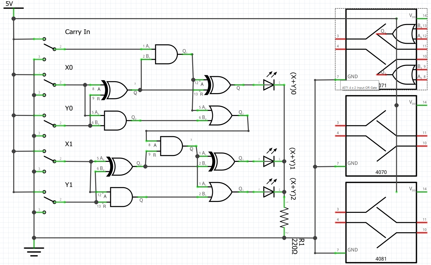 Problem With 4xxx Logic Gates Can You Reproduce This Parts Help And Diagrams Two Bit Adder1377x848 155 Kb