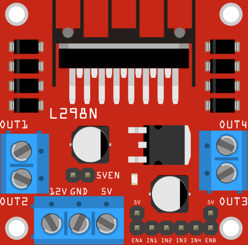 H-bridge With L298n Motor Driver - Parts Submit