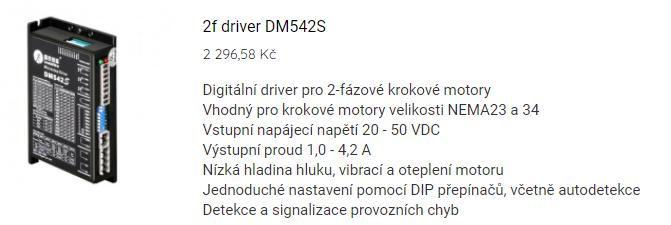 2f driver DM542S