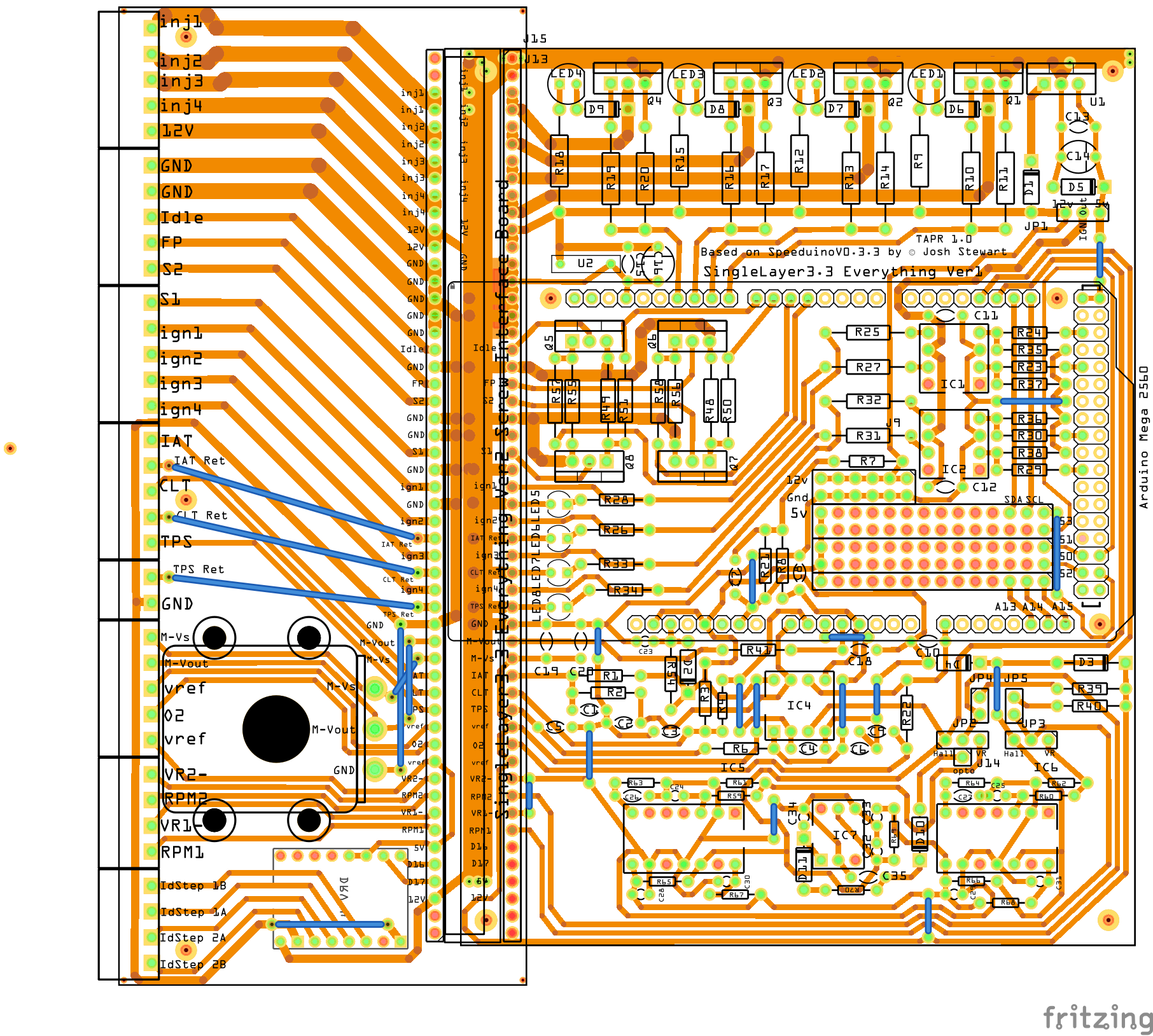 Creating A Pcb In Everything Friends Dont Let Use Fritzing Homebuilt Solid State Relay Circuit Board Component Layout Hackaday