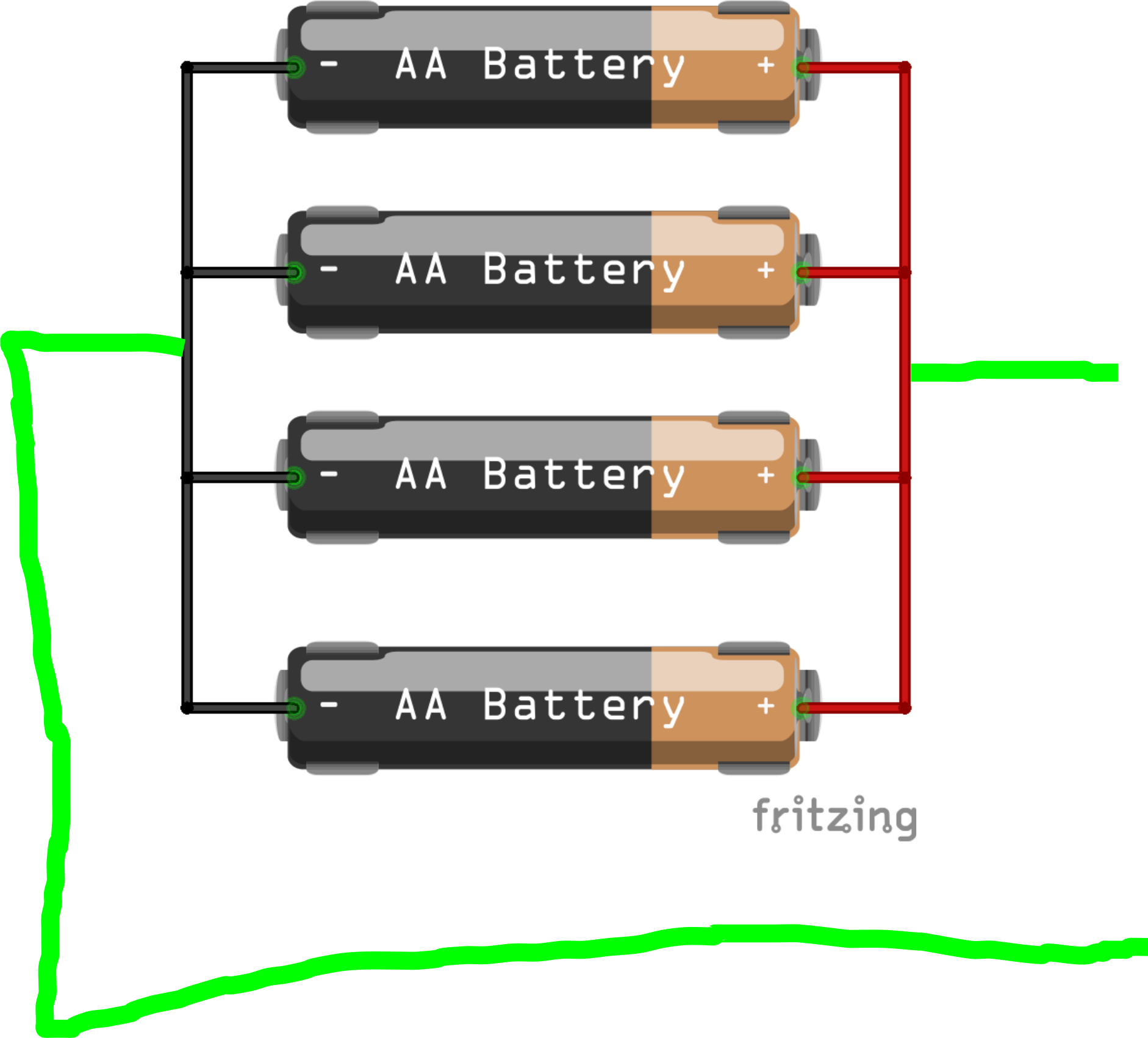 Parallel Connection Of Batteries Beginners Fritzing Forum