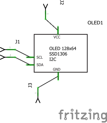 OLED I2C, 128x32,  56 x 1 5 in (12x40 mm) blue or white text - parts