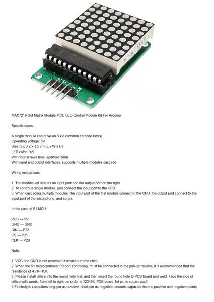 MAX7219 Dot Matrix Led Modul - parts submit - fritzing forum