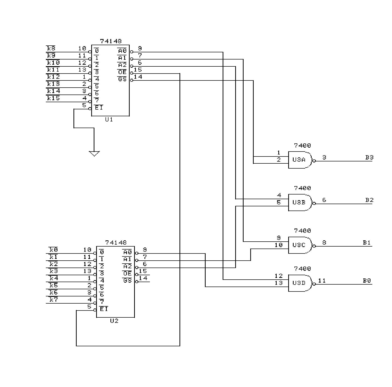 74ls148n - 8 To 3 Bit - Priority Encoder